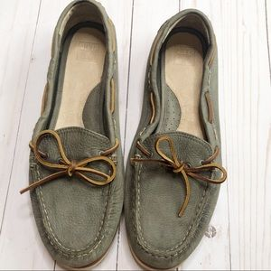 Frye Quincy Tie Boat Loafers Size 11